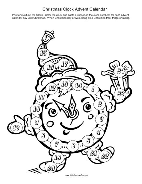 Printable Christmas Advent Calendars Archives Tree Countdown Coloring Page