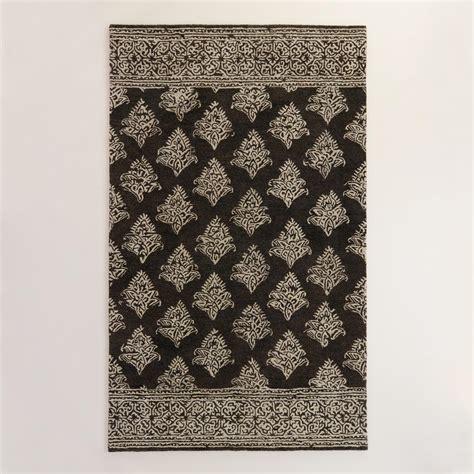 ivory and black rug black and ivory tufted wool area rug world market
