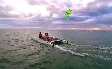 catamaran kite sailing kite catamaran sailing the kiteboarder magazine