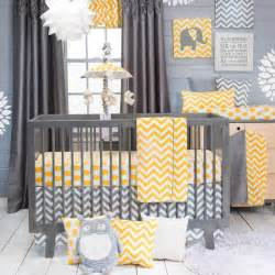 Yellow Crib Bedding Set Chevron Modern Gray And Yellow Polka Dots Nursery Baby 3 Crib Bedding Set Ebay