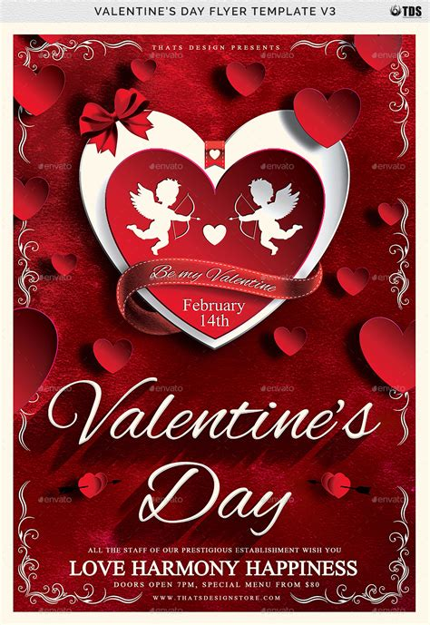 valentines day templates valentines day flyer template v3 by lou606 graphicriver