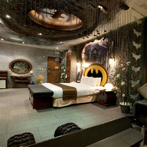batman themed bedroom interior style ideas