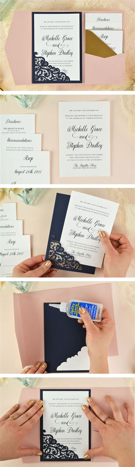 Diy Bounce Card Template by Lace Laser Cut Wedding Invitation Free Invi And Diy