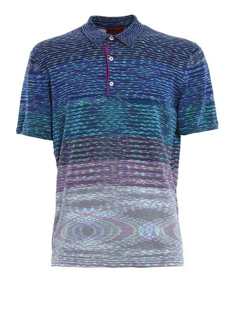 Jersey Multi multi striped jersey polo shirt by missoni polo shirts ikrix