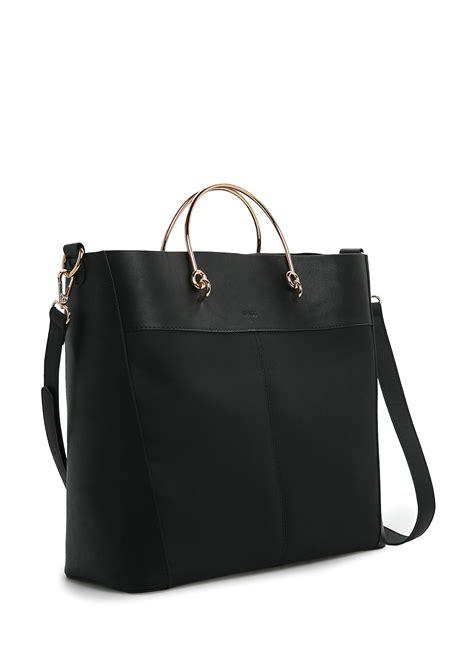 Original Mango Tote Bag mango metal handle tote bag in black lyst