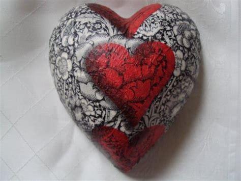 Decoupage Hearts - ceramic decoupage hearts black a