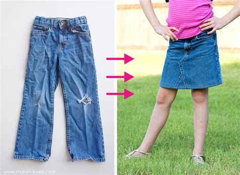 pattern for turning jeans into a skirt how to make a denim skirt from jeans redskirtz