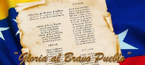daniel jimenez venezuela gloria al bravo pueblo gloria al bravo pueblo de canto patri 243 tico a himno