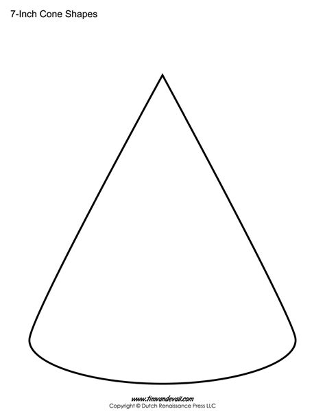 template cone cone templates free printable cone shape pdfs