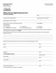 Hipaa Templates Free by Hipaa Privacy Rights Request Form Template Microsoft Word