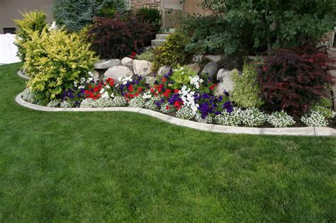 Ideas For Flower Beds by Bloombety Annual Flower Bed Designs With Colorful