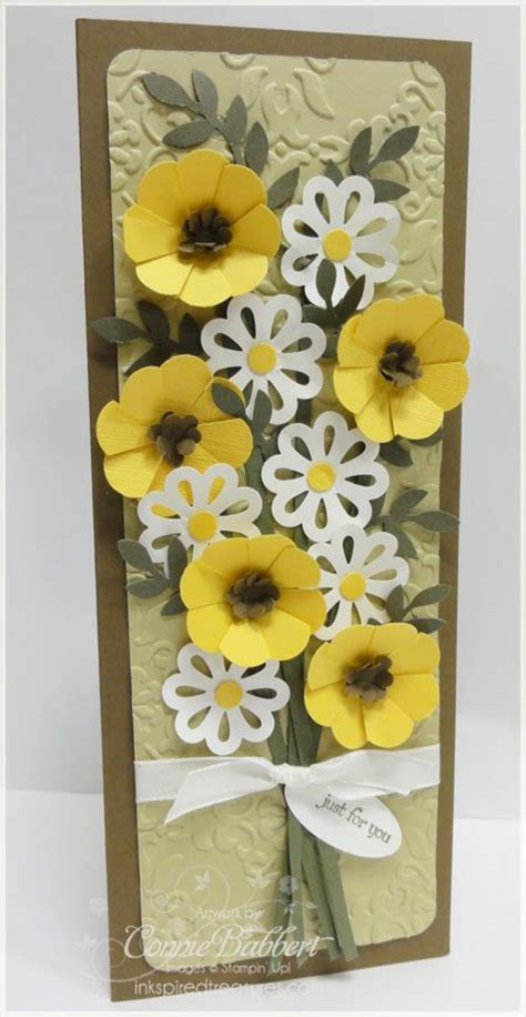 Paper Punch Craft Designs - stem flowers punch card quilling
