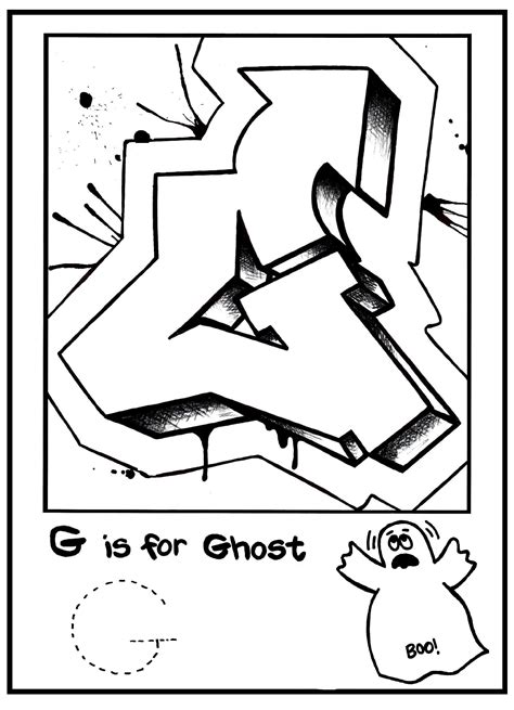 graffiti letters and characters coloring book a collection of graffiti drawings and coloring pages for and adults books g is for graffiti alphabet coloring book free coloring