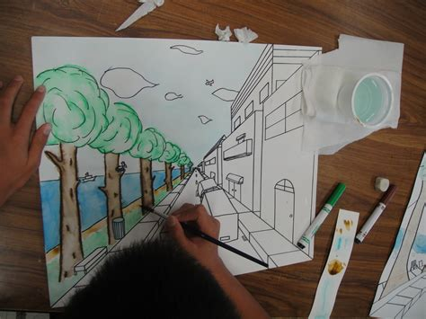 Drawing 7th Class by 7th Grade One Point Linear Perspective Creation Station
