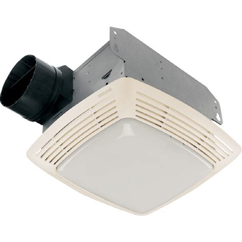 Bathroom Light Fan Shop Broan 2 5 Sone 80 Cfm White Bathroom Fan With Light At Lowes