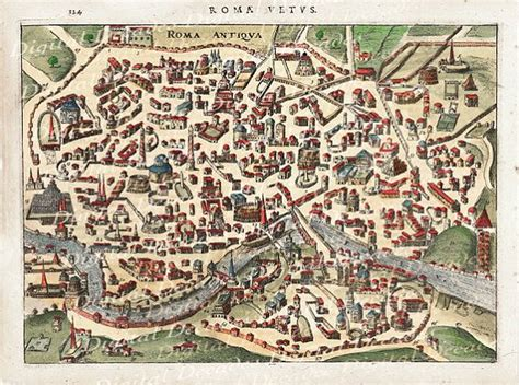 ancient world cities map ancient rome roma italy italian city map digital