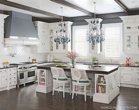 White And Dark Kitchen Cabinets by Luxury Kitchen Designer Hungeling Design Clive