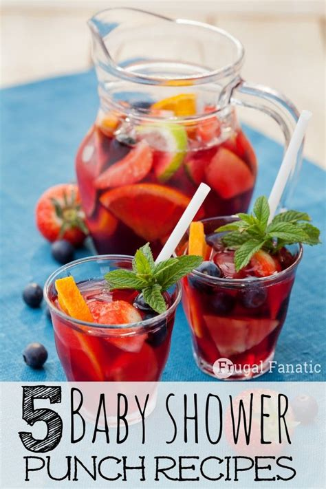 Recipes For A Baby Shower by Easy Punch Recipes For Baby Shower