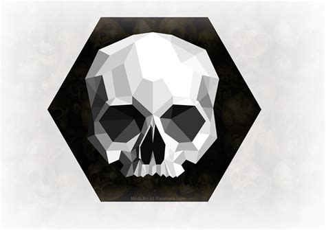 geometric skull by roythadon on deviantart