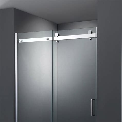 sliding shower door frameless sliding shower door at plumbing uk