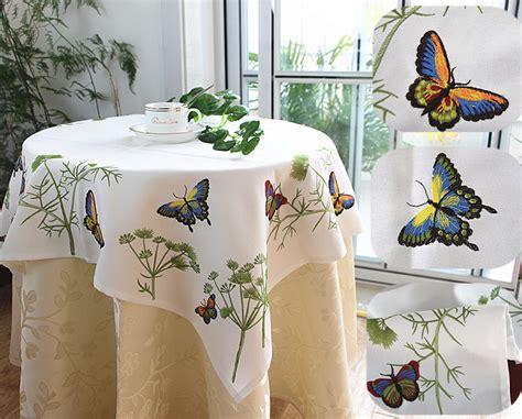 mantel de manta de mariposa 1pc elegant polyester embroidery tablecloths butterfly