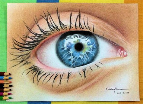 Eye Drawing By Gianmarco10 On Deviantart Colour Drawing