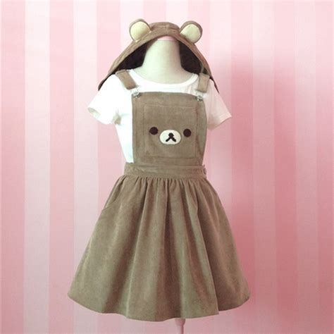 jumpsuit bordir brown brown embroidery removable ear hats dress