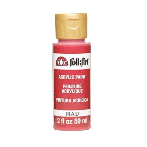 folk acrylic paint upc 028995004353 folkart paints 2 oz napthol crimson