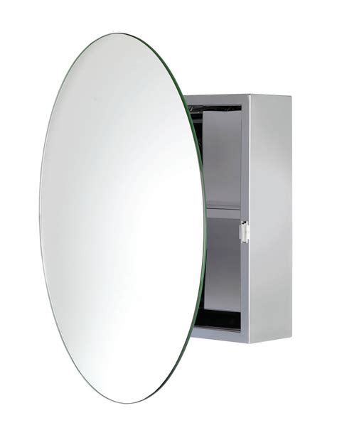 bathroom mirror cabinet round croydex severn stainless steel circular door mirror