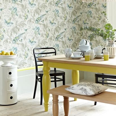 wallpaper in dining room country style rooms bedroom dining room and kitchen