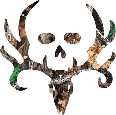 Camo Bone Collector Bone Collector Style Buck And Skull Camo Decal Sticker