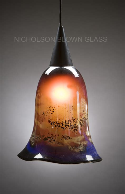 Blown Glass Pendant Lights Nicholson Blown Glass Pendant Lighting