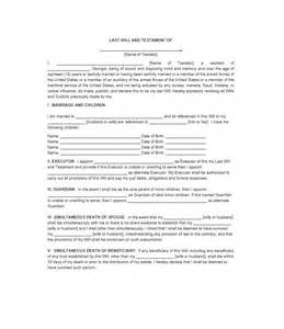 Last Will And Testament Template California by 39 Last Will And Testament Forms Templates Template Lab
