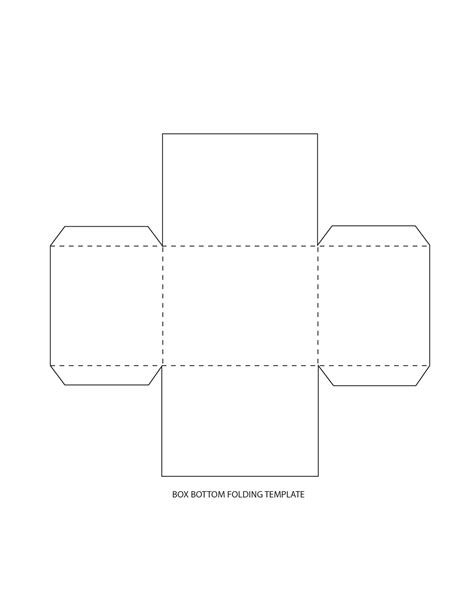 Paper Folding Box Template - cookie box templates as pdf box templates