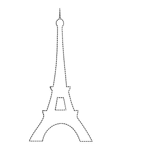 eiffel tower model template eiffel tower template free clipart on