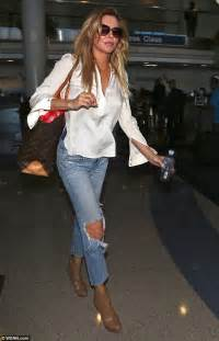 brandi glanville boyfriend jeans brandi glanville tries to calm her nerves while flying out