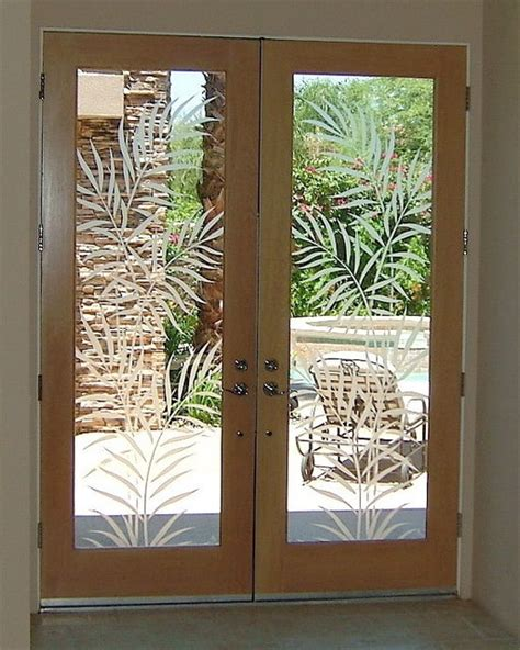 Frosted Glass Front Door Glass Doors Frosted Glass Front Entry Doors Ferns 2d Tropical Entry Other Metro By