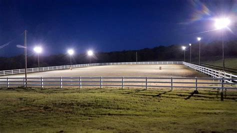 Outdoor Arena Lights Winning Edge Stables Boarding Farms In Harrah Oklahoma