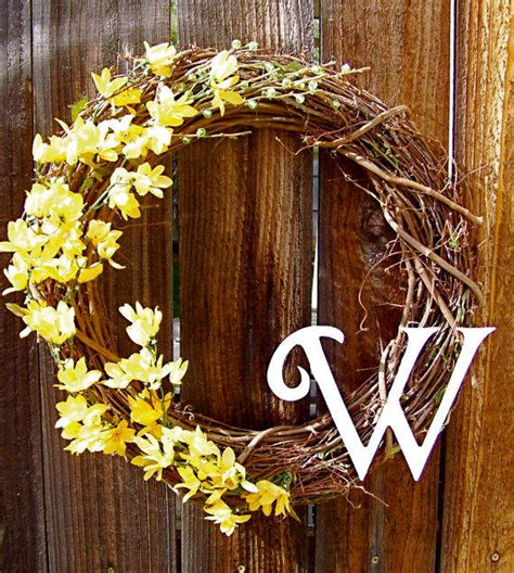 Monogrammed Front Door Wreaths Personalized 18 Quot Wreath Front Door From Warnerdecor On Etsy