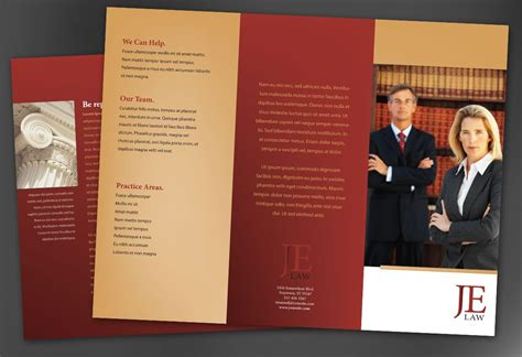 tri fold brochure template for attorney law firm order