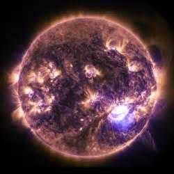 solar flare lights lights on the sun imagery of a solar flare nasa