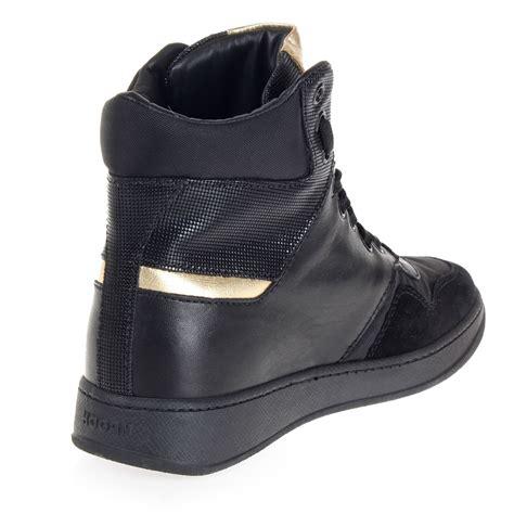 sneakers alte con zeppa interna donna sneakers alte in pelle con zeppa interna