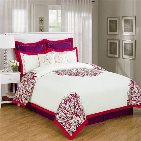 red bed comforters white quilted bedspread bing images