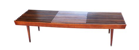 mid century wood coffee table mid century modern expandable slat bench wood