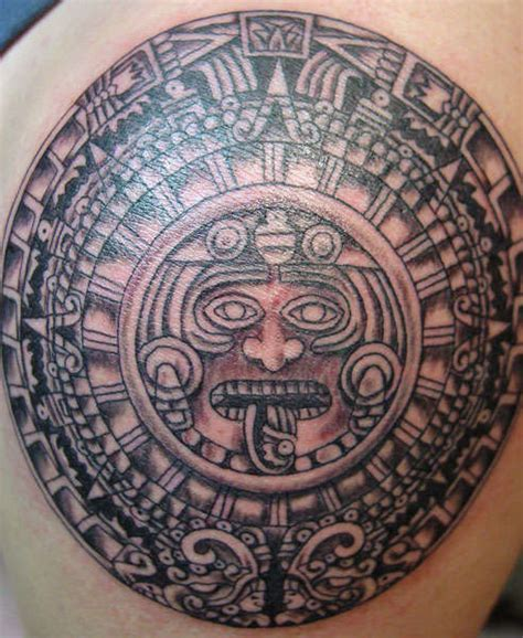 my designs aztec sun tattoos