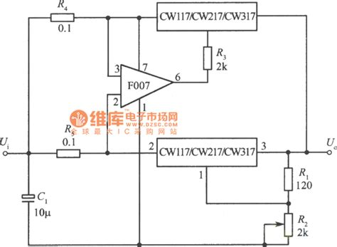 integrated circuit current regulator two integrated voltage regulator parallel expanding output current circuit power supply