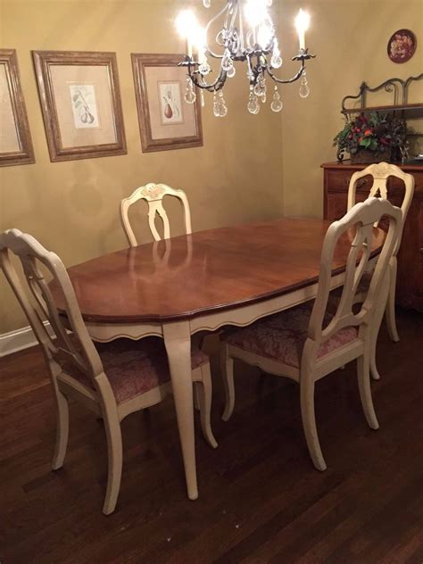 Ethan Allen Country French Dining Room Table And Chairs Ebay Ethan Allen Dining Room Table And Chairs