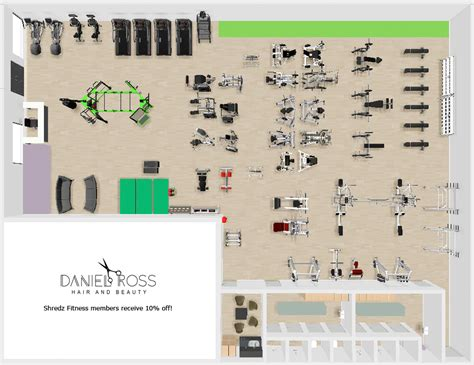 fitness center floor plan design shredz fitness centre swadlincote derbyshire