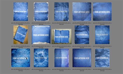 adobe photoshop poster templates distressed poster mockup templates pack
