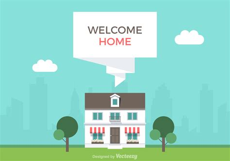 Free Welcome Home Vector Illustration   Download Free